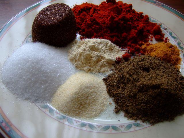 Basis Barbecue Rub - losse ingrediënten