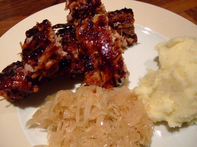 Sauerkraut Braised Ribs