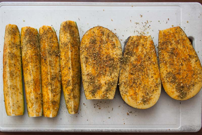 Tortilla's met eendenborst en lauwwarme groente