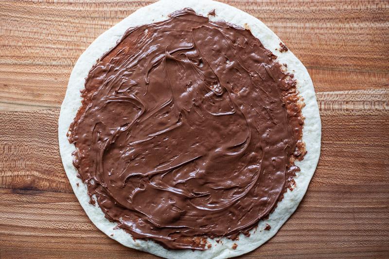 Tortilla met nutella