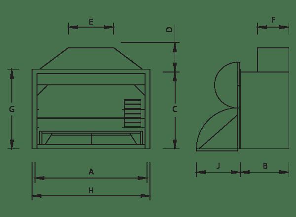 Build-In Braai Dimensions