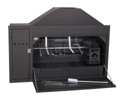 HomeFires Build-In Spit Braai Setup 1