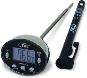 CDN ProAccurate - Termómetro de lectura rápida, Plateado