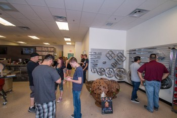 Customers at the BBQ Concepts Grand Opening Event