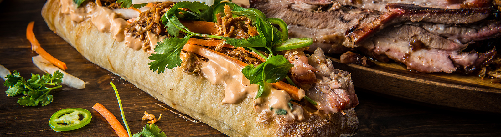 Traeger Recipe - BBQ Pulled Pork And Pork Belly Banh