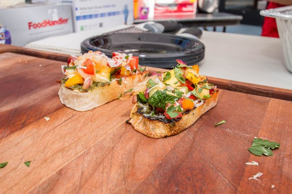 Chef Phillip Dell's Grilled Vegetable Bruschetta - at BBQ Concepts