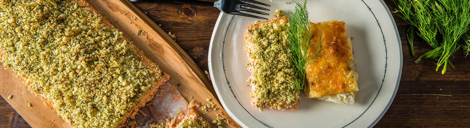 Traeger Recipe Slow Roasted Wild Salmon With Cheesy Scalloped