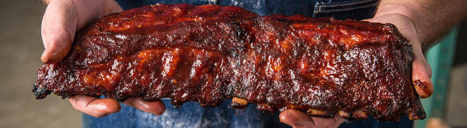Smoked Spice Rub Ribs Traeger Wood Pellet Grills - BBQ ...