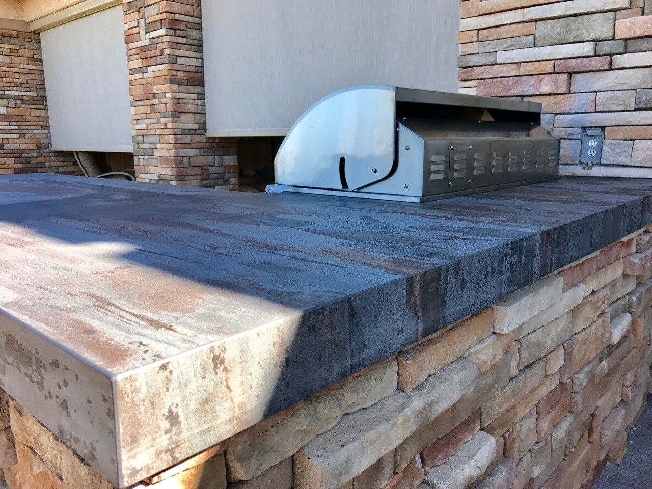 Custom Outdoor Kitchen - Dekton Trilium by Cosentino Close-up Counter-top