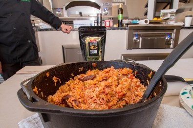 Chef Phillip Dell Using Oakridge BBQ Habanero Death Dust for Jambalaya