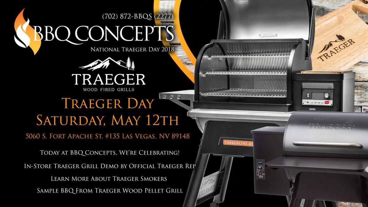 Traeger Day at BBQ Concepts Saturday, May 12th, 2018