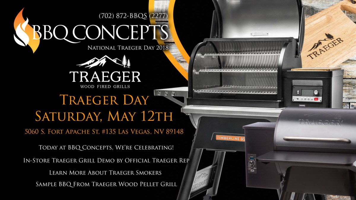 Traeger Day at BBQ Concepts Saturday, May 12th, 2018
