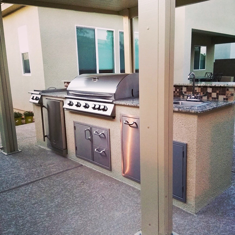 Outdoor Kitchens in the City of Sin by BBQ Concepts