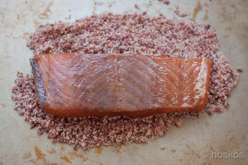 bacon crusted salmon