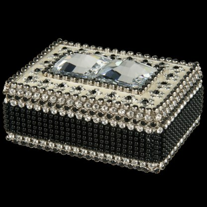 bb Simon Swarovski crystal jewelry box J-712