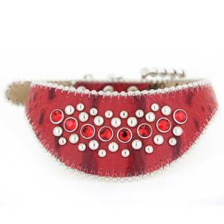 B.B.SIMON DOG Ruby Pet Rhinestone Bling Pet Collar