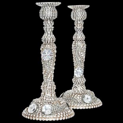 CDH-201 B.B.SIMON Swarovskii crystal Candle holder
