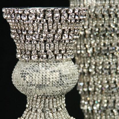 CDH-214-L bb Simon Swarovskii crystal Candle holder
