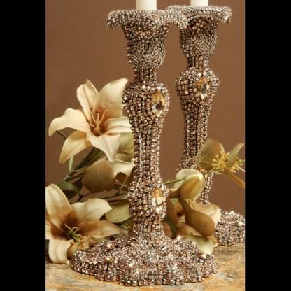 CDH-223-GOLD bb Simon Swarovski crystal Candle holder
