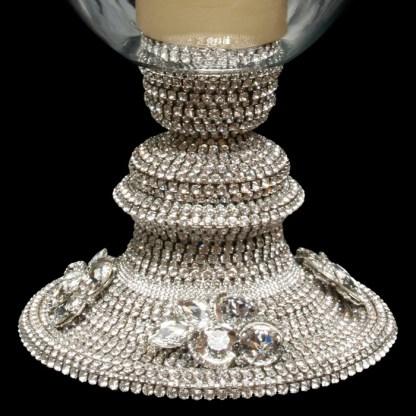 CDH-230 bb Simon Swarovski crystal Candle holder