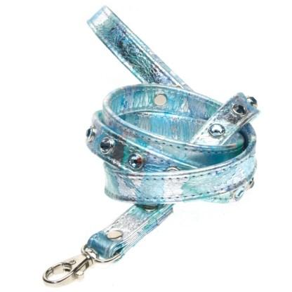 LEASH Bayou Aquamarine Swarovski Dog Harness