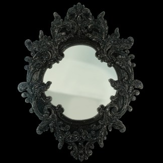 M-203-JET BB Simon Jet Black Jeweled Mirror