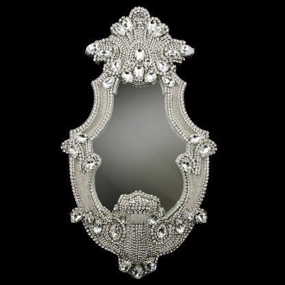 M-204 BB Simon Tall Clear Crystal Bling Mirror
