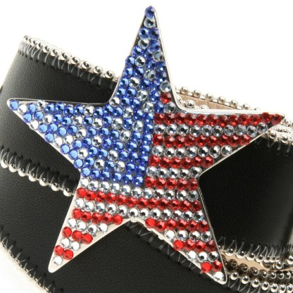 Star Blazing RED WHITE & BLUE B.B.SIMON BELT