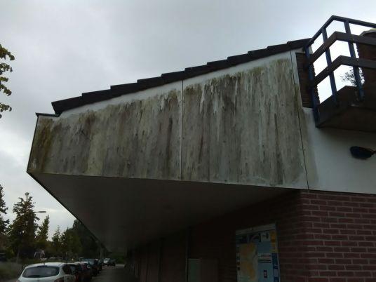 Trespa platen reinigen MCD winkel Barendrecht Best Building Service B.V.