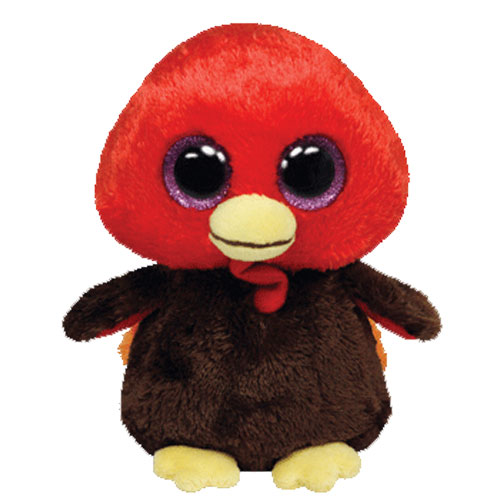TY Beanie Boos GOBBLES The Turkey Glitter Eyes 2013