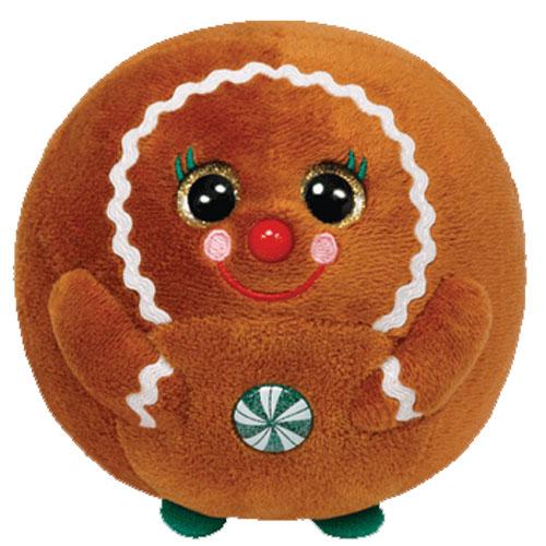 TY Beanie Ballz GINGER The Gingerbread Regular Size 5