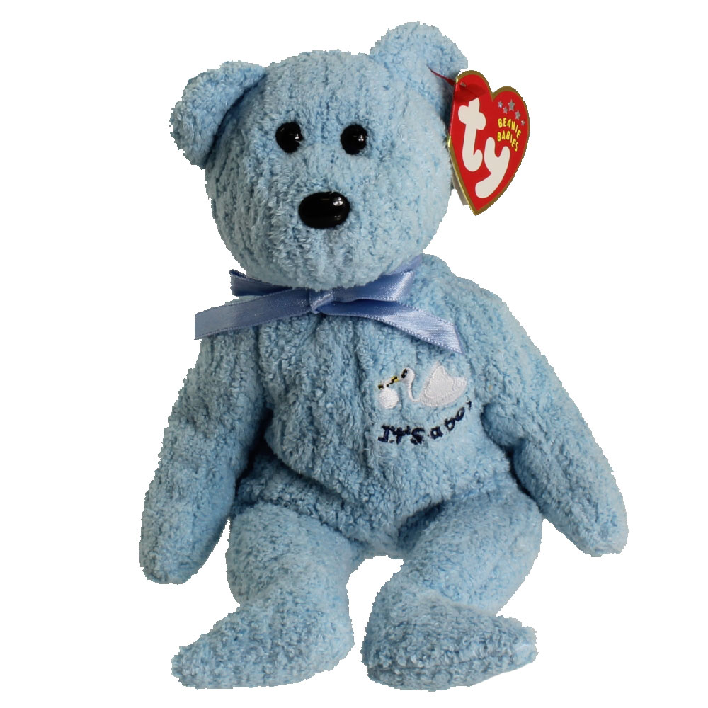 Ty Beanie Baby Babyboy The Bear Stork Amp It S A Boy On