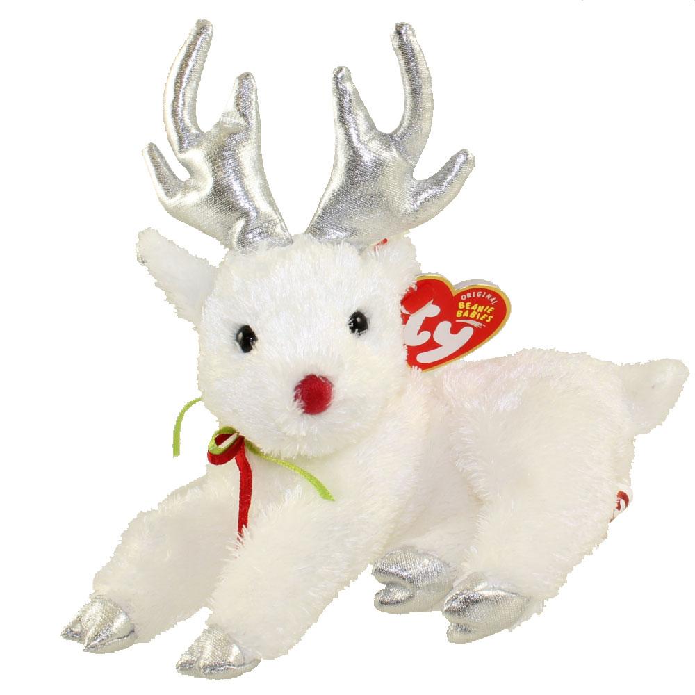 TY Beanie Baby SLEIGHBELLE The Reindeer White Version