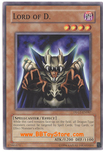 Yu Gi Oh Card Dlg1 En087 Lord Of D Common