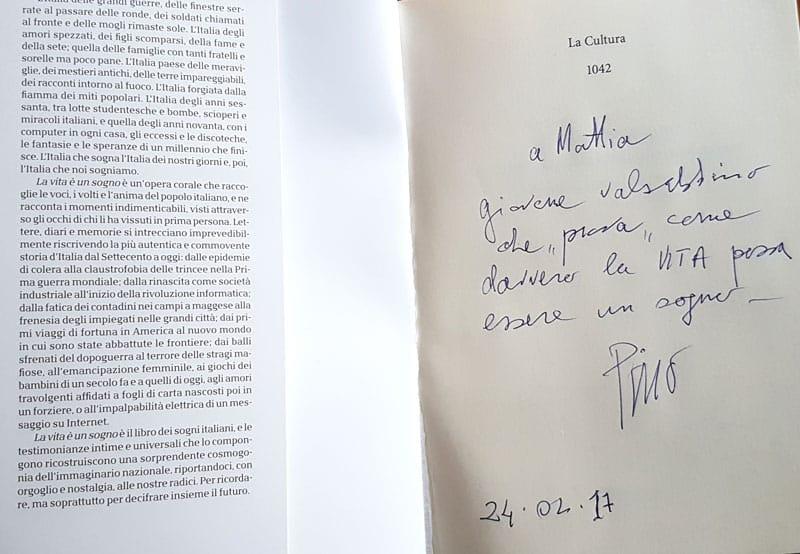 Una dedica da parte di un nostro cliente dopo la vendita di eccellenze gastronomiche della Vallesabbia e Lago di Garda