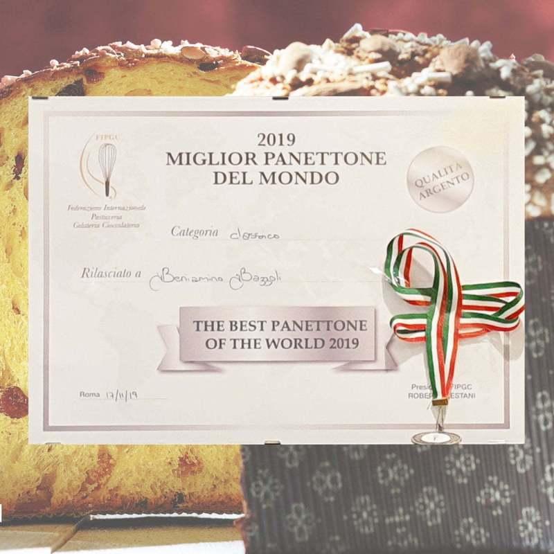 Attestato concorso migliore panettone al mondo di Beniamino Bazzoli