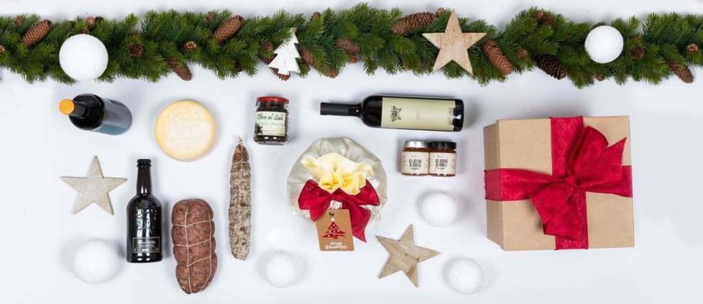 Prodotti tipici alimentari per regali natalizi