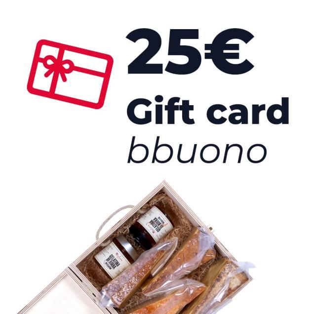 Gift card dal valore di 25 euro