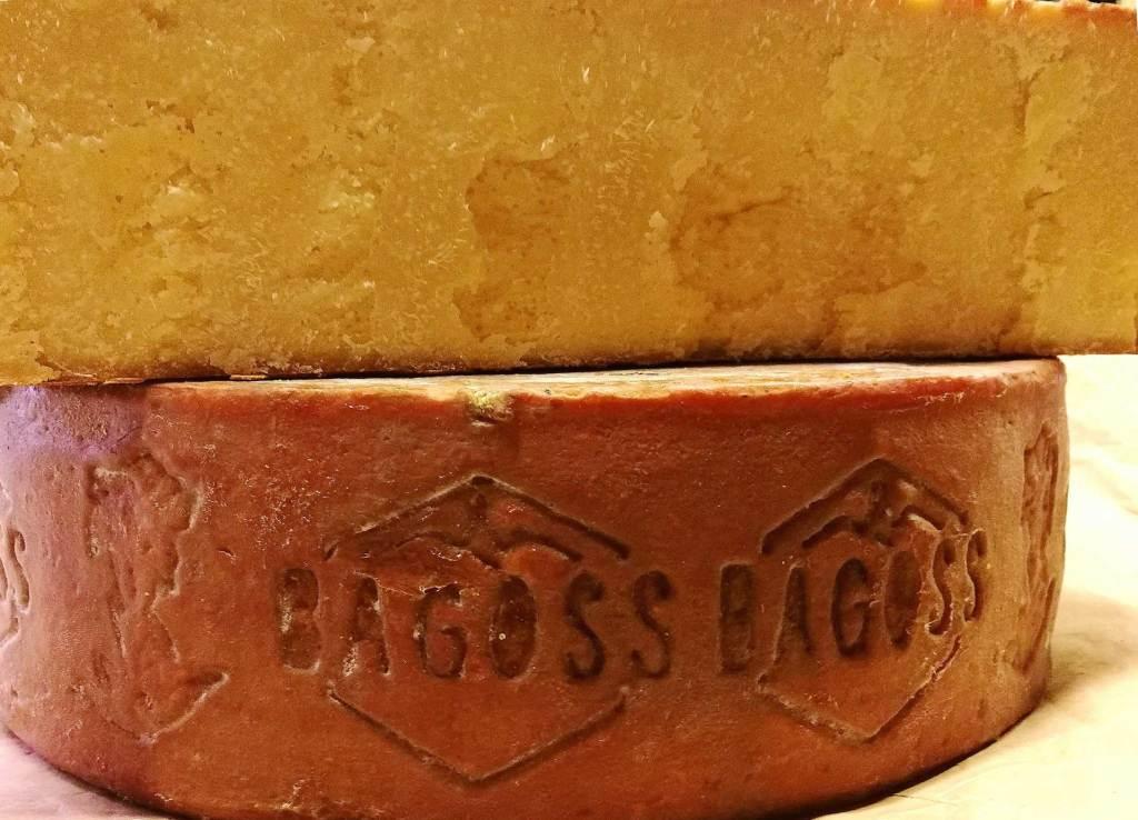 Interno della forma di formaggio Bagoss