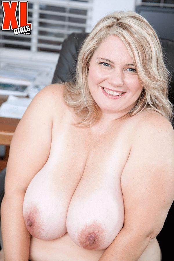 CJ Woods BBW blonde model boobs