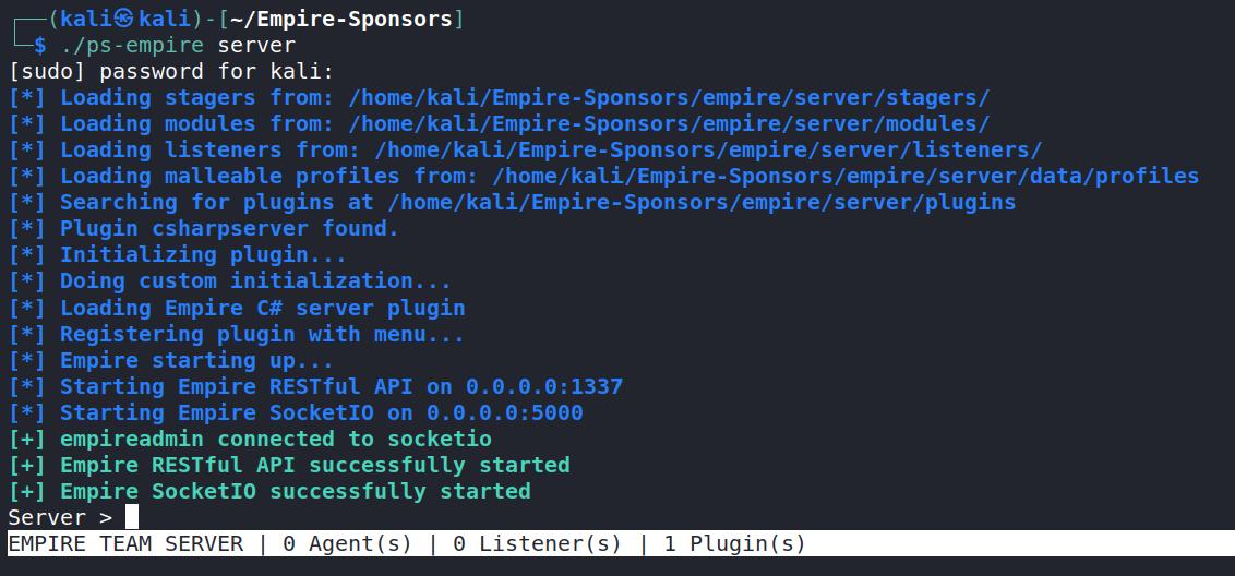 e4 server startup