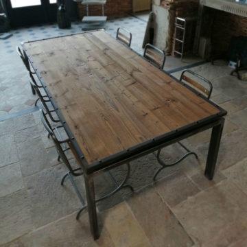 table vieux bois table basse vieux