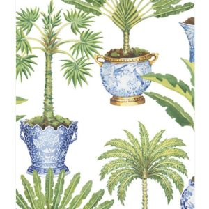 Potted Palms Paper Guest Towel Napkins 15/PK