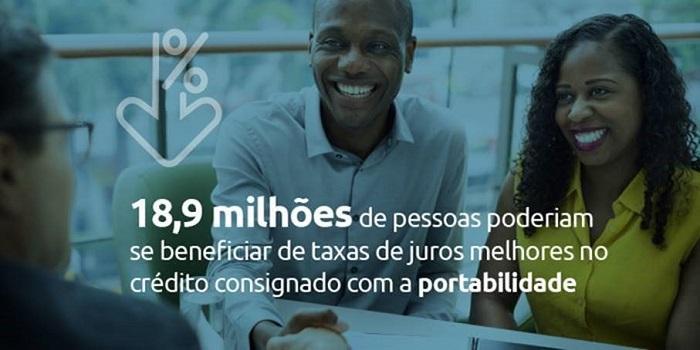 pessoas se beneficiando da portabilidade de crédito
