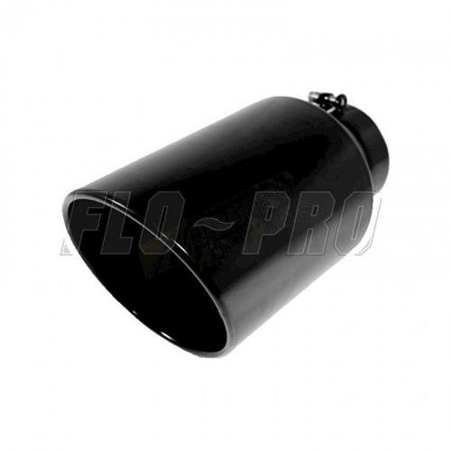 flo pro exhaust tip 5 8 x 15 powder coated black