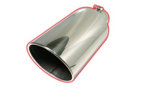 flo pro exhaust tip 4 6 x 15 rolled angle cut stainless