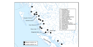 major spawning rivers in bc