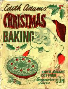 Christmas Baking by Edith Adams - a cheerful Santa and lots of memories