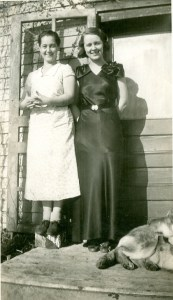 Aunt Thale and her sister Jean are pictured in the image,