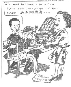 Cartoon - apples and patriotic duty